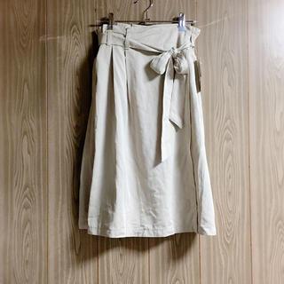 しまむら - しまむら リボンベルト付きラップ風スカート