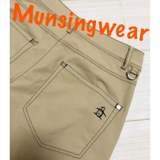 マンシングウェア(Munsingwear)の美品♡マンシングウェア ベージュ ストレッチ ハーフパンツ ゴルフウェア(ウエア)