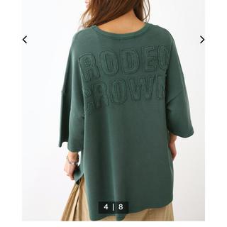 RODEO CROWNS WIDE BOWL - ロデオクラウンズ ワッフルTシャツ グリーン