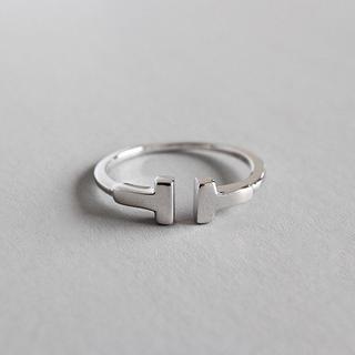 SILVER925製指輪 ファッション リング シルバー925 女性 シンプル(リング(指輪))