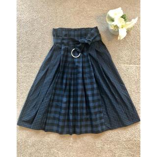 ザラ(ZARA)のザラ スカート チェック ロングスカート S・Mサイズ(ひざ丈スカート)