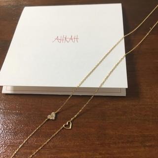 AHKAH - 美品☆アーカー パヴェ ツインハートネックレス 限定 AHKAH