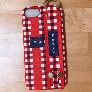 マルニ(Marni)のiphone7/8ケース レッド/ネイビー 即日発送(iPhoneケース)