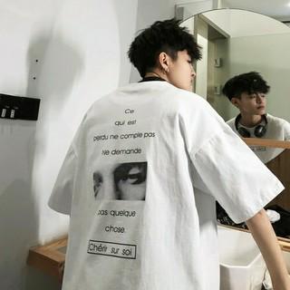 バックフォトビッグシルエットシャツ ホワイト XXLサイズ(Tシャツ/カットソー(半袖/袖なし))