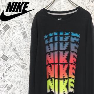 ナイキ(NIKE)の90s NIKE ナイキ ロングTシャツロンTビッグサイズグラデーションロゴ(Tシャツ/カットソー(七分/長袖))