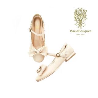 Angelic Pretty - BacioBouquet リボンパンプス ホワイト