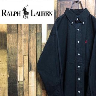 Ralph Lauren - 【激レア】ラルフローレン☆ワンポイント刺繍ロゴ入りボタンダウンシャツ 90s