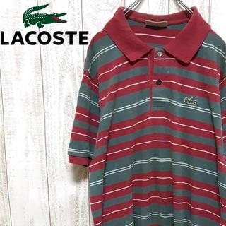 ラコステ(LACOSTE)の【01-491】ラコステ 半袖ポロシャツ ワンピース ビッグシルエット ボーダー(ポロシャツ)