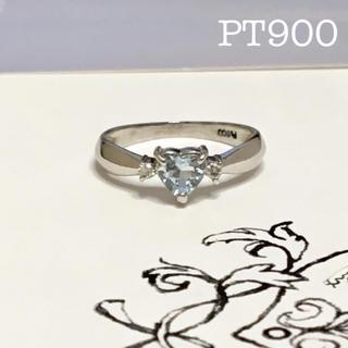 pt900  アクアマリン ダイヤ リング(リング(指輪))