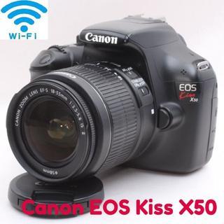 Canon - ★スマホ転送&簡単操作で初心者にも!ライブビュー★Canon kiss X50★