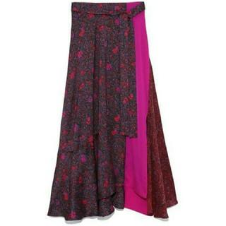フレイアイディー(FRAY I.D)の新品タグ付 FRAY ♡ミックス パターン スカート(ロングスカート)