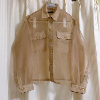 ミッドウエスト(MIDWEST)の603 オーガンジービッグシャツブルゾン(シャツ/ブラウス(半袖/袖なし))