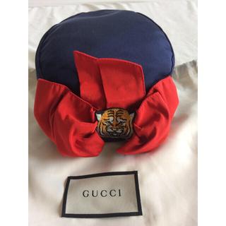 グッチ(Gucci)のGUCCI children☆虎ワッペンリボンベレー帽(ハンチング/ベレー帽)