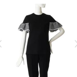 Drawer - ボーダーズアットバルコニー  肩フリルTシャツ 36