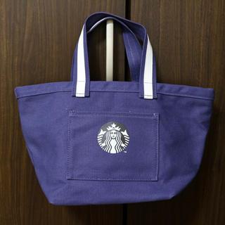 スターバックスコーヒー(Starbucks Coffee)の【新品】スターバックス トートバッグ 水玉 ドット 海外限定 ブルー 紺(トートバッグ)