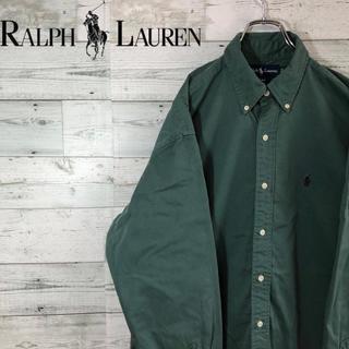 Ralph Lauren - ラルフローレン☆ワンポイント刺繍ロゴ ビッグシャツ チノBDシャツ 90s