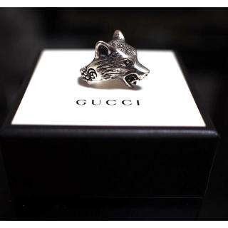 Gucci - 【GUCCI】wolf-motif collection ring