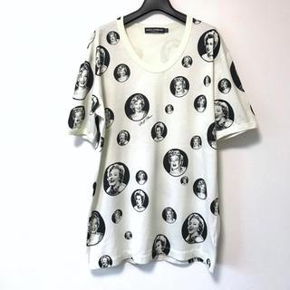 ドルチェアンドガッバーナ(DOLCE&GABBANA)の美品レア!ドルチェ&ガッバーナ 総柄マリリンモンロー半袖Tシャツ52(Tシャツ/カットソー(半袖/袖なし))