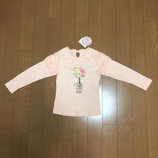 シマムラ(しまむら)のANGEL LOVE  スムス花プリントパフ長袖Tシャツ130(Tシャツ/カットソー)
