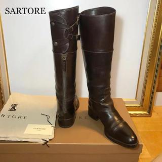値下  美品  SARTORE  サルトル Wバックベルト 乗馬ブーツ(ブーツ)
