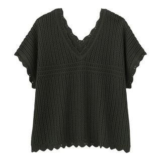 GU - GU 透かし編み vネック セーター