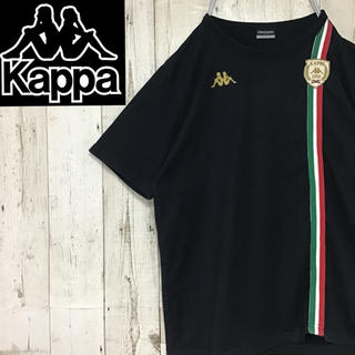 Kappa - 【カッパ kappa】【ロゴ刺繍】【ワンポイント】【ライン入り】【Tシャツ】