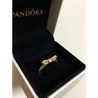 値下げ!PANDORA☆パンドラ 14K レア リボンリング(リング(指輪))