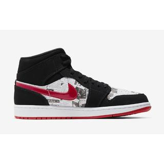28CMNIKE AIR JORDAN1 MID NEWSPAPER 28CM