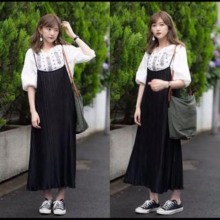 しまむら - しまむら♡プチプラのあや♡サロペット♡プリーツジャンパースカート♡黒♡L