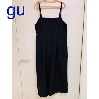 GU - ★gu オールインワン サロペット 黒 M