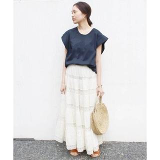 IENA SLOBE - SLOBE IENA ◆ナノシアフリルスリーブTシャツ◆