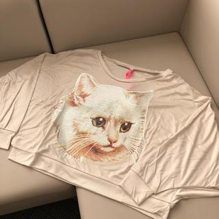 AHCAHCUM.muchacha - 【新品】あちゃちゅむ←→ムチャチャ スパンコール 猫 カットソー