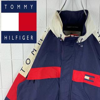 トミーヒルフィガー(TOMMY HILFIGER)のトミーヒルフィガー アームロゴ ゆるだぼ 90s セーリングジャケット 可愛い(ブルゾン)