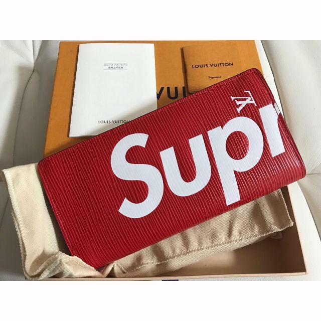 super popular 002e0 560ca ヴィトン シュプリーム ポルトフォイユ 赤ブラザ 財布 ヴァージル | フリマアプリ ラクマ