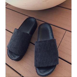 SeaRoomlynn - TRUNC88 完売 Velor corduroy Sandals サンダル L
