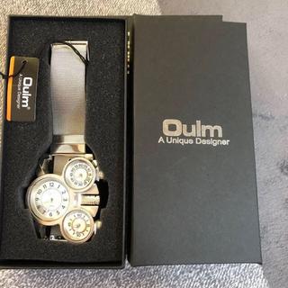Oulm 腕時計 メッシュバンド 3タイムゾーン オールステンレス