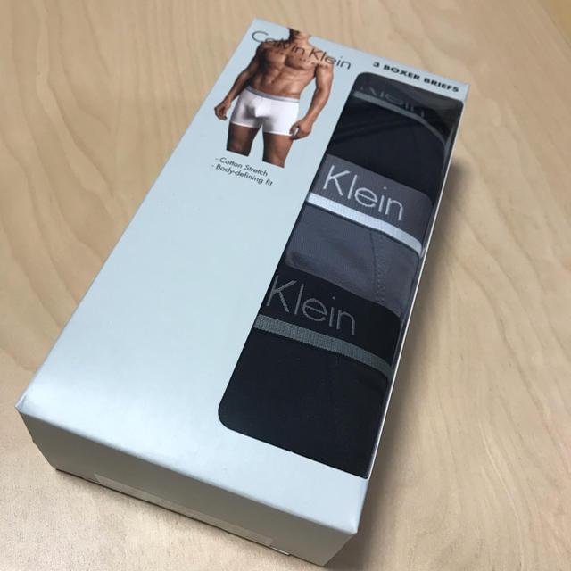 Calvin Klein(カルバンクライン)の正規品新品Calvin Klein ボクサーパンツ3枚組(グレー.ブラック)L メンズのアンダーウェア(ボクサーパンツ)の商品写真