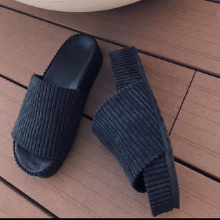 TODAYFUL - TRUNC88 完売 Velor corduroy Sandals サンダル L