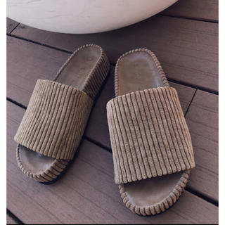 ALEXIA STAM - TRUNC88 完売 Velor corduroy Sandals サンダル L