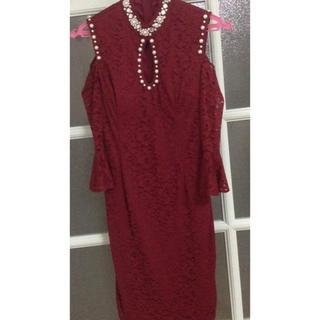 dazzy store - ハイネック タイトドレス  5分袖