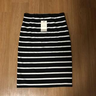 ダズリン(dazzlin)のAWダズリン ボーダータイトスカート(ひざ丈スカート)