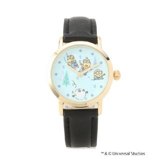 ミニオン - イッツデモ ミニオン 腕時計 革ベルトウォッチ