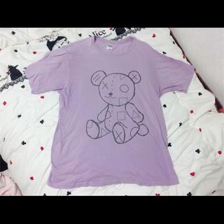 ファンキーフルーツ(FUNKY FRUIT)のファンキーフルーツ ♡ くま ♡ ぬいぐるみ ♡ Tシャツ ♡ 紫 ♡ムラサキ♡(Tシャツ(半袖/袖なし))