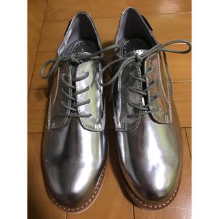 ジーエイチバス(G.H.BASS)の新品未使用  定価約23000円 G.H.bass シルバーシューズ 23cm(ローファー/革靴)