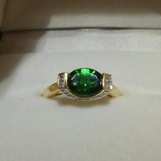 K14 クロムダイオプサイトのリング(リング(指輪))