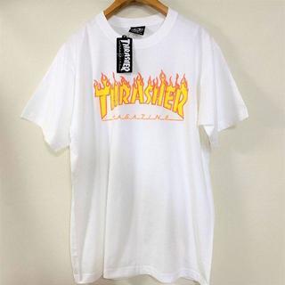 THRASHER - THRASHER Tシャツ 新品 白 L フレイムロゴ