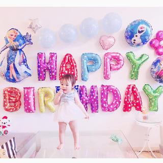 アナと雪の女王の誕生日バルーンセット♡文字カラー変更可♡送料無料