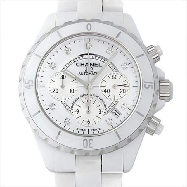 innovative design b5964 6c129 シャネル J12 白セラミック クロノグラフ 9Pダイヤ 新品 メンズ 腕時計 | フリマアプリ ラクマ