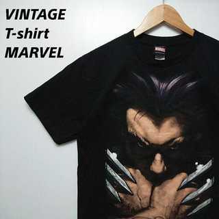 416 90s ヴィンテージ MARVEL Tシャツ ウルヴァリン ハイチ製(Tシャツ/カットソー(半袖/袖なし))