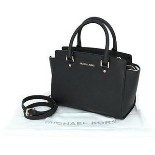 マイケルコース(Michael Kors)のマイケルコース セルマ サッチェル 2WAYハンドバッグ ブラック(ハンドバッグ)